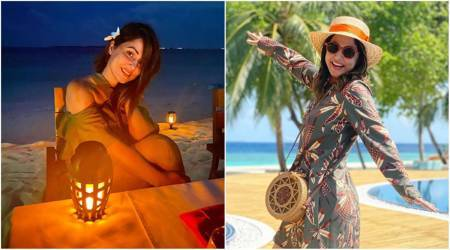 hina khan maldives vacation photos
