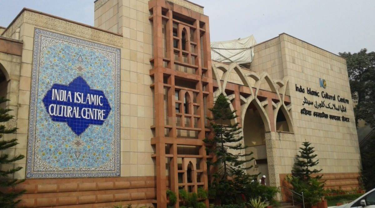 India Islamic Cultural Centre signboard defaced, Hindu Sena says its workers did it