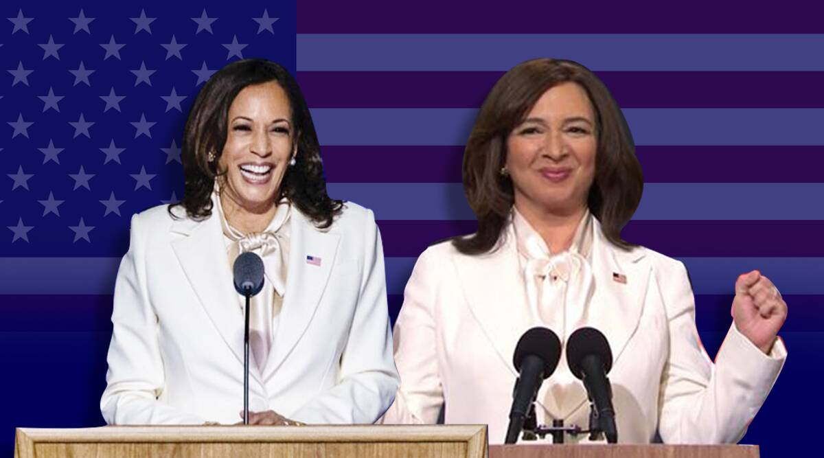 How Snl Recreated Kamala Harris Victory Speech Look For Maya Rudolph In No Time Lifestyle News The Indian Express