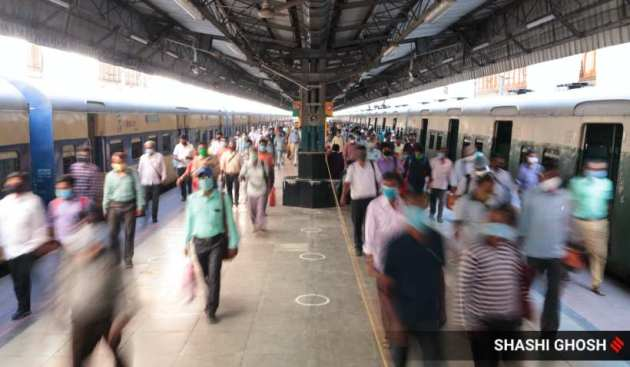 West Bengal local trains resume, covid lockdown, Bengal local train services resume, Bengal local trains resume, West Bengal govt, social distancing, indian express