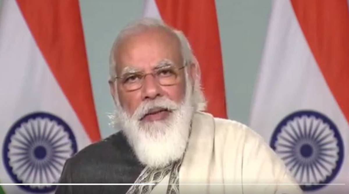 Constitution Day, PM Modi Constitution Day, Modi Constitution Day speech, All India Presiding Officers' Conference, speakers conference Gujarat, Know Your Constitution, PM Modi constitution, indian express