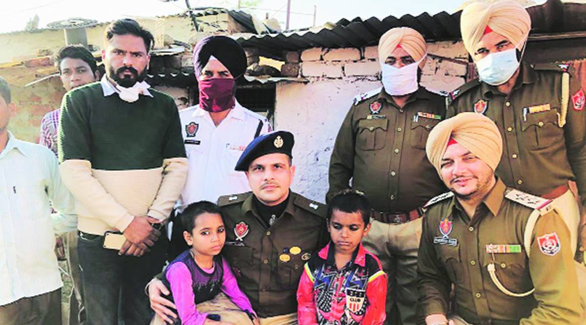 Mohali cops provide warm clothes to orphan siblings, call for assistance for rehabilitation