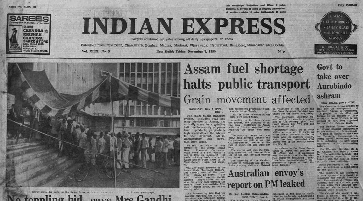 Assam, Assam unrest petrol 1980, Ronald Reagan US president, Indira Gandhi, forty years ago