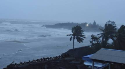 Cyclonic storm Nivar crosses coast near Puducherry