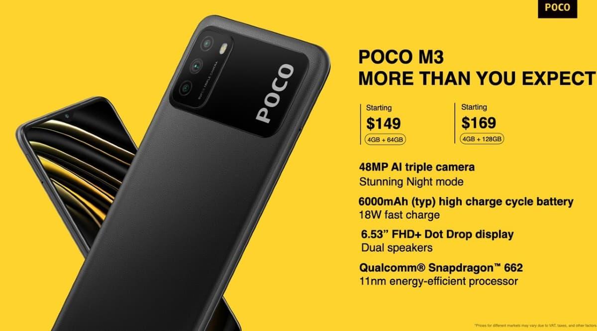 Poco, Poco M3, Poco M3 launched, Poco M3 launched in India, Poco M3 India launch, Poco M3 price, Poco M3 specifications, Poco M3 price in India, Poco M3 India price