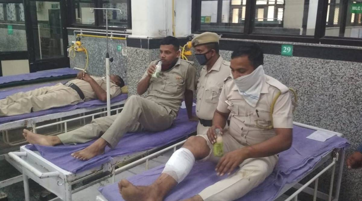 Protest over mining: 16 cops injured in clash with villagers, 14 booked