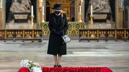 Queen, Queen wearing a mask, British Royal Family, indian express news