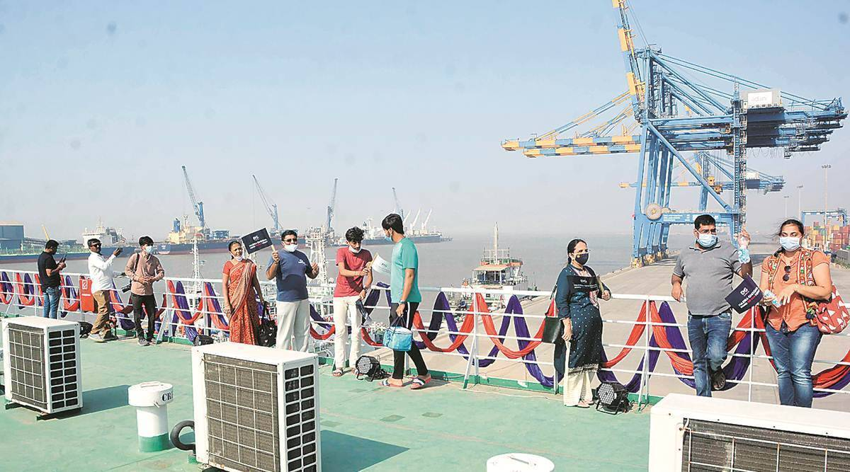 Ghogha-Dahej RoPax ferry suspended, Gujarat RoPax ferry services, Ahmedabad news, Gujarat news, Indian express news