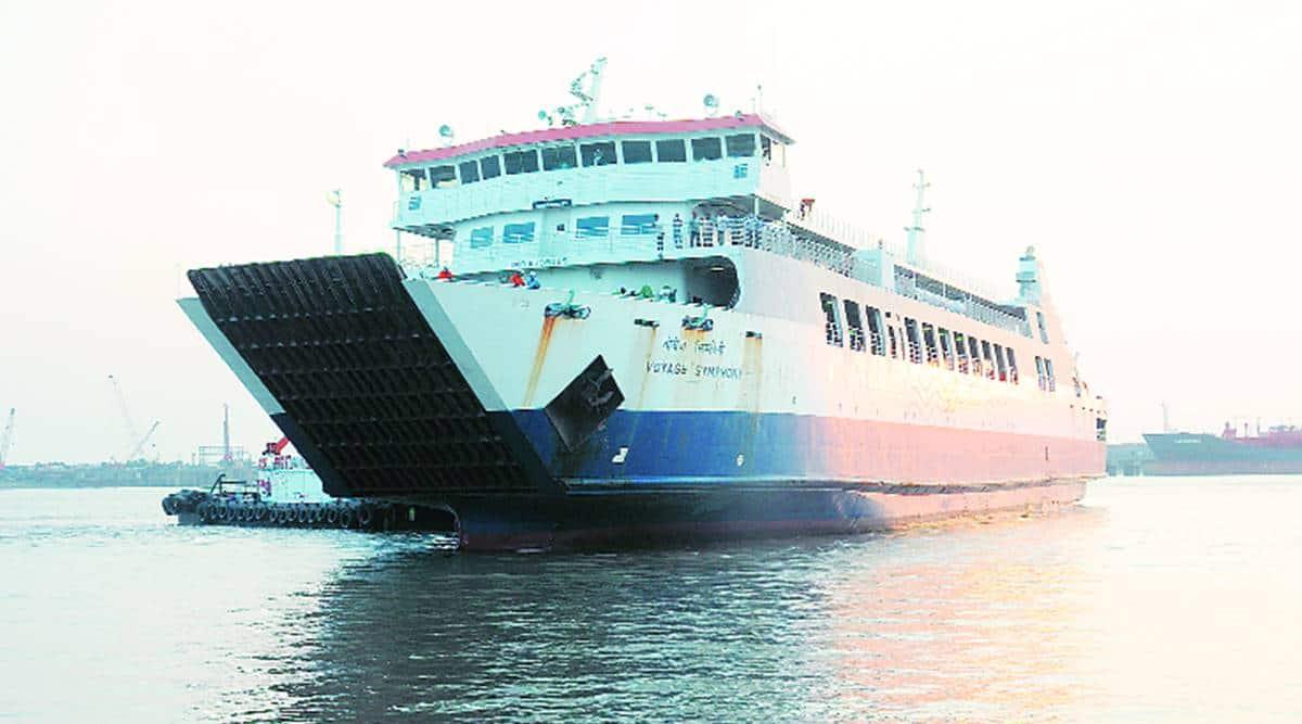 RoPax vessel trail run, RoPax ferry malfunction, RoPax vessel services, RoPax vessel services hit, gujarat news