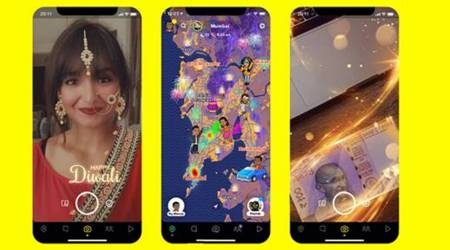 snapchat diwali features, snapchat new features, snapchat ar filters, snapchat diwali stickers, snapchat diwali backgrounds