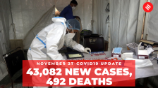 Coronavirus Update Nov 27: India recorded 43,082 new Covid-19 cases, 492 deaths