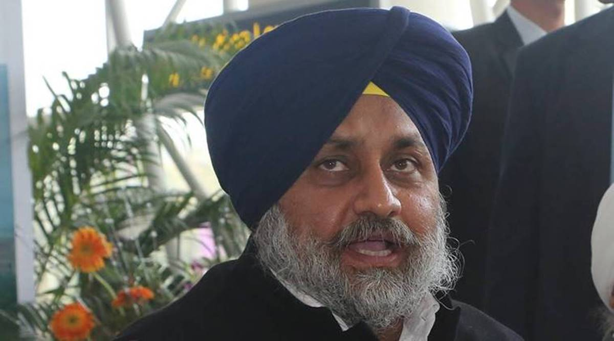 Sukhbir Singh Badal, SAD president, punjab farmers protest, Chandigarh news, Punjab news, INdian express news