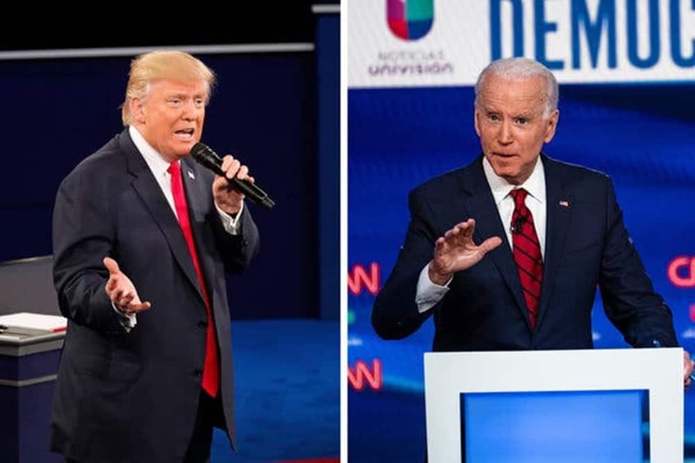 US President Donald Trump (Left) and President-elect Joe Biden (right)