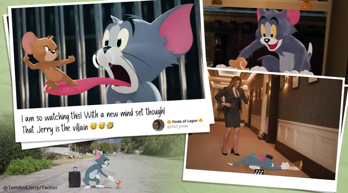 Tom & Jerry, Tom & Jerry movie, Tom & Jerry movie trailer, Tom & Jerry movie trailer first look, Tom & Jerry movie trailer reactions, Tom & Jerry cartoons, Tom & Jerry animation and live-action movie, Tom & Jerry movie release date, Tom & Jerry movie trailer viral video, William Hanna and Joseph Barbera Tom and Jerry, Trending news, Indian Express news