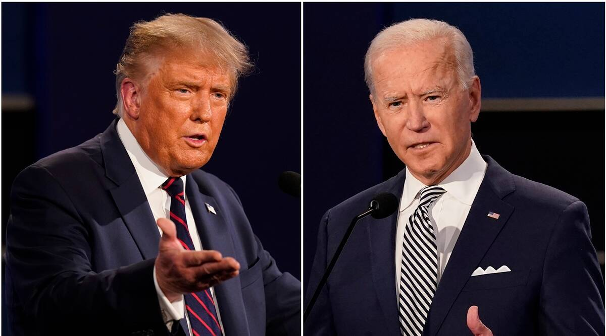 Donald trump, Joe Biden, Trump-Biden, US travel ban, radical Islamic terrorism, world news, Indian express