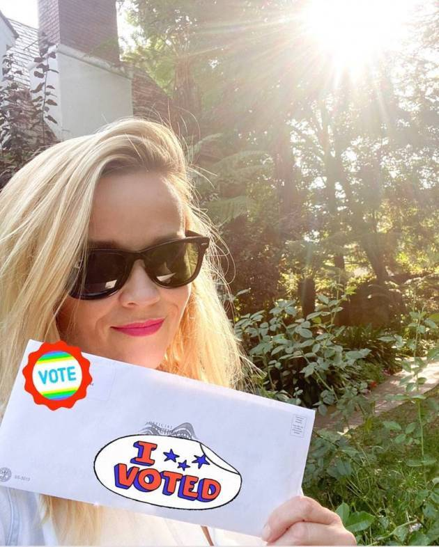 Reese Witherspoon voted
