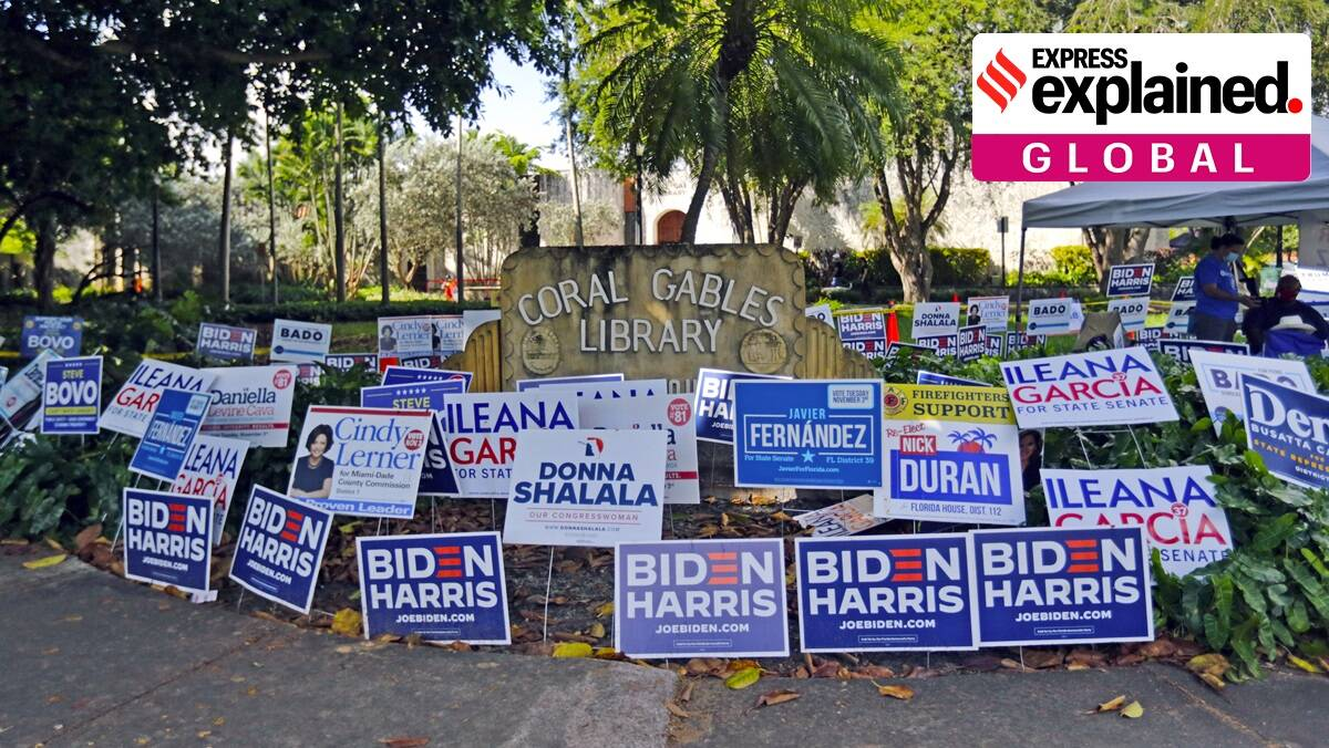 US election results, US president, US presidential elections 2020, US results, Donald Trump, Joe Biden, Election result guide, US elections explained, Indian Express