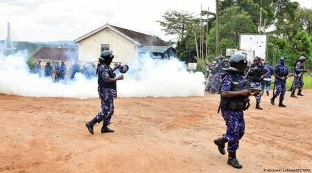 Ugandan security force, Uganda protests, Uganda protests security