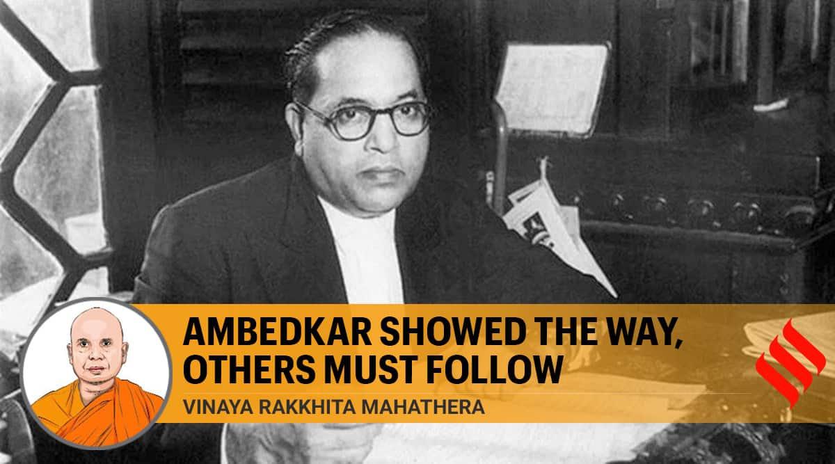 br Ambedkar, br Ambedkar buddhism, buddhism, dalits, hinduism, Vinaya Rakkhita Mahathera, indian express, br Ambedkar teachings