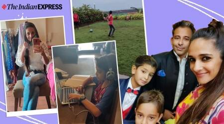 Tara Sharma, tara sharma fitness, indianexpress.com, indianexpress, pandemic and physical activity, children and physical activity, tara sharma saluja, how to keep kids active in lockdown, yearender 2020, yearender 2020 lookback,