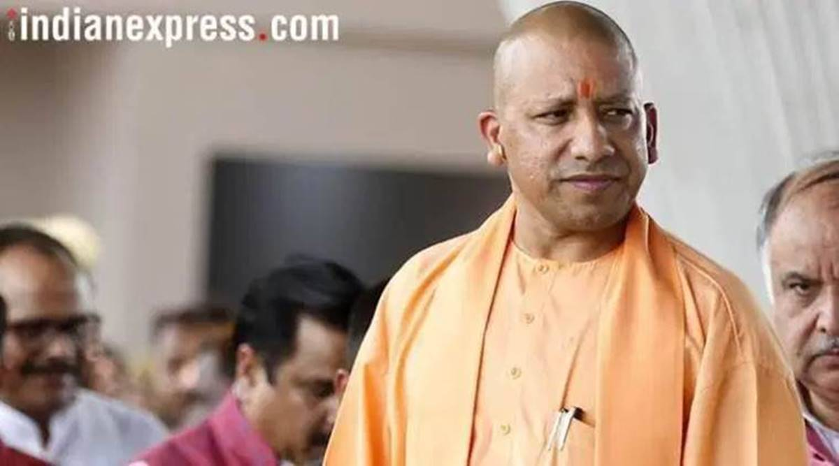 Yogi Adityanath, CM gifts cows, UP malnourished children, Lucknow news, UP news, Indian express news