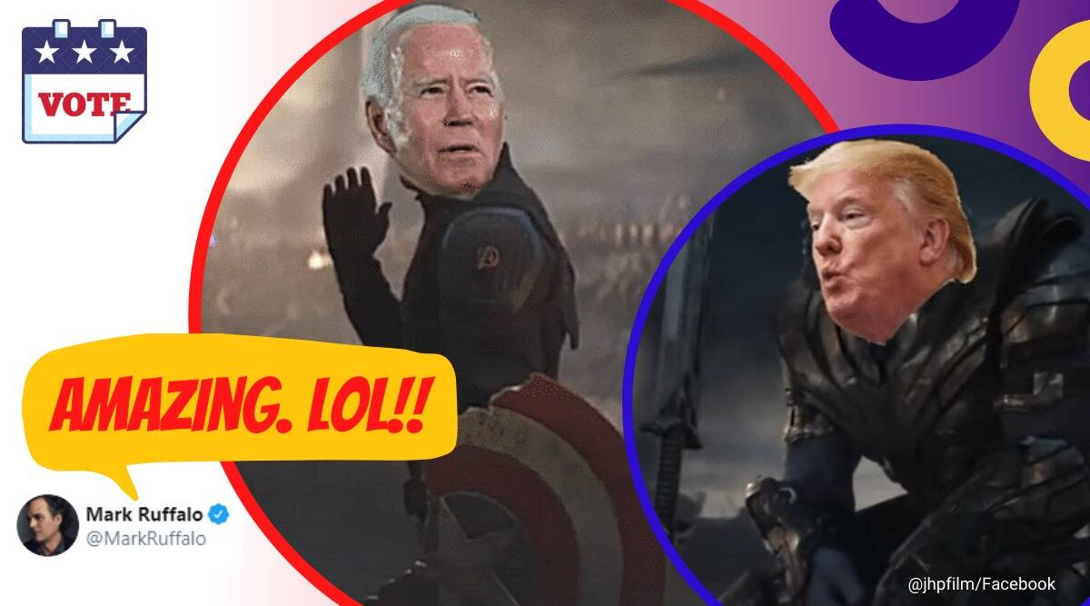 Democrats Assemble Spoof Of Avengers Endgame Featuring Biden Trump Delights Even Hulk Trending News The Indian Express