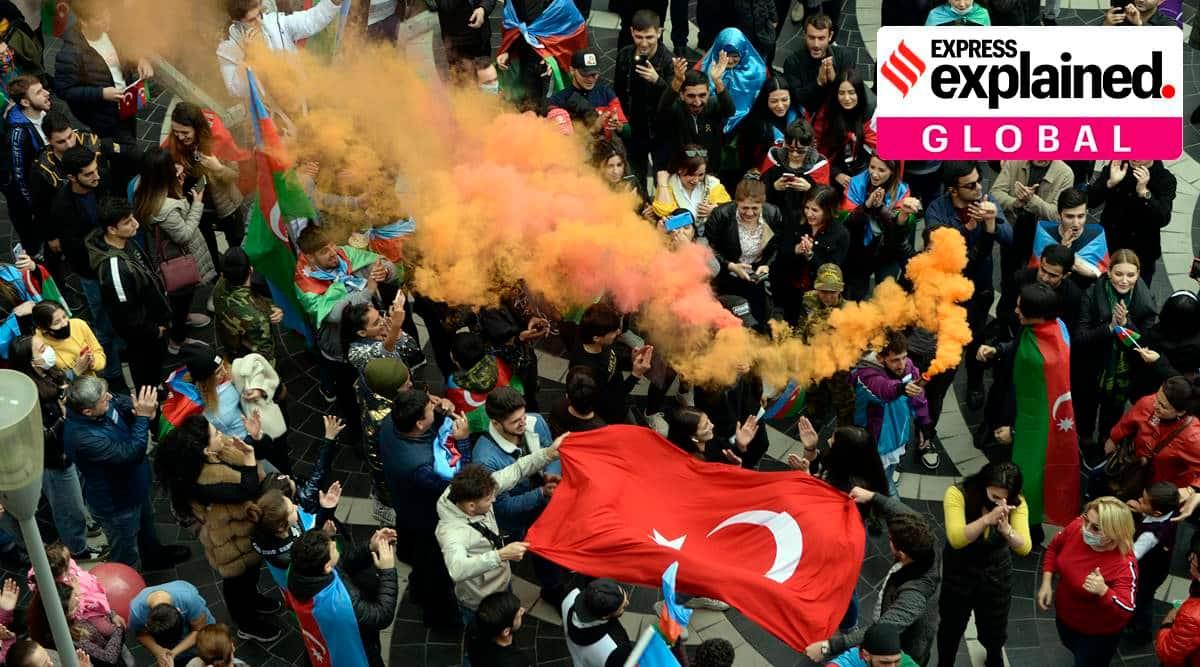 Armenia Azerbaijan peace deal, Armenia Azerbaijan conflict, Nagorno-Karabakh, Nagorno-Karabakh peace deal, Armenia Azerbaijan ceasefire, Russia role in Nagorno-Karabakh, express explained, indian express