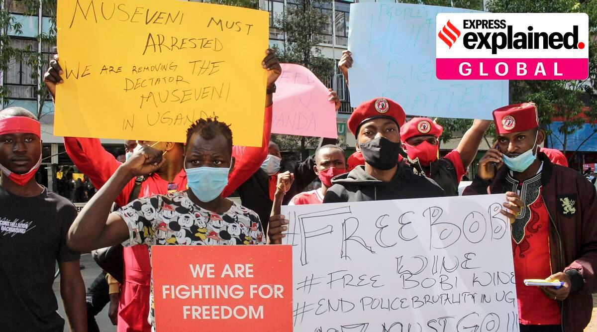 Bobi Wine, Bobi Wine arrest, Bobi Wine protests, who is Bobi Wine, Uganda elections, Yoweri Museveni, Uganda protests, indian express, express explained