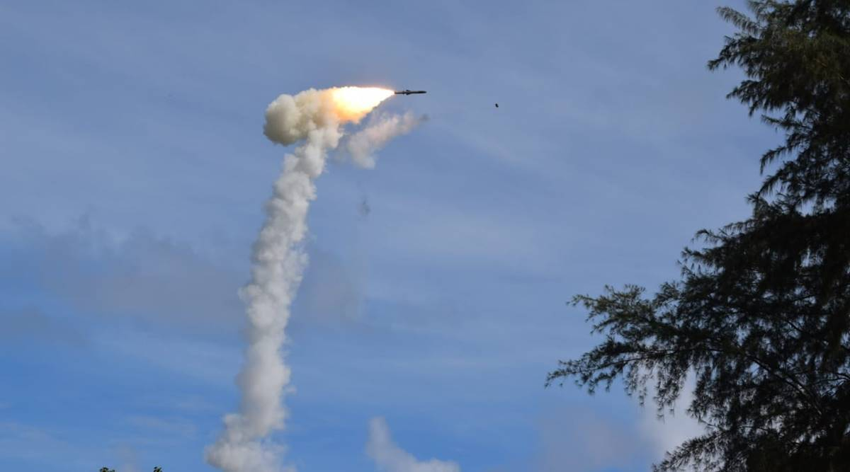 BrahMos supersonic cruise missile, BrahMos missile launched, Army launches BrahMos missile, missile top-attack configuration, missile direct-attack configuration, BrahMos missile features speed, indian express