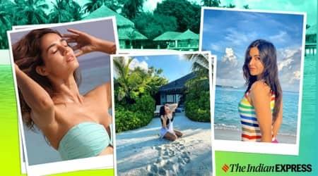 katrina kaif, sophie choudhry, sonakshi sinha, varun dhawan, maldives, indian express, indian express news