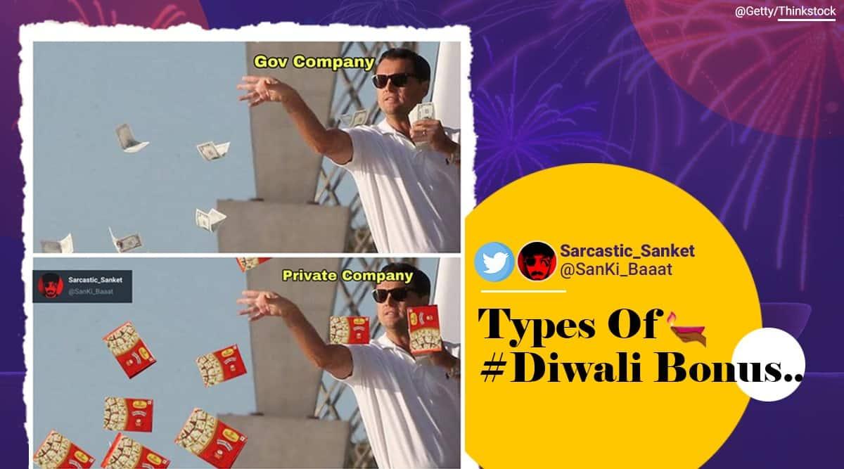 diwali, diwali memes, diwali bonus, diwali 2020 bonus, diwali bonu govt, funny diwali memes, indian express