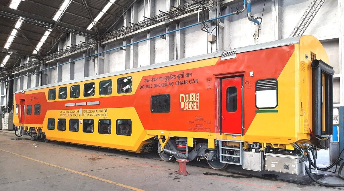 RCF rolls out 120-seater double-decker coach with maximum speed of 160 kmph