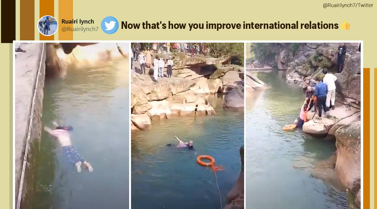 china, british, British diplomat save drowning woman China, British diplomat china lady viral video, Stephen Ellison,