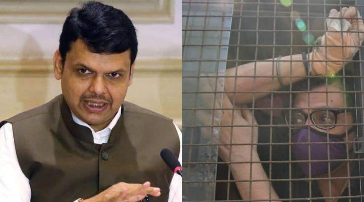 Arnab goswami arrested, arnab goswami in jail, arnab goswami bail. arnab goswami suicide case, devendra fadnavis, fadnavis arnab goswami arrest, mumbai city news