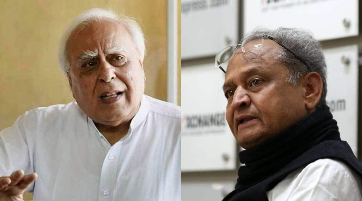 Ashok Gehlot hits out at Kapil Sibal, Congress again in war of words - The Indian Express