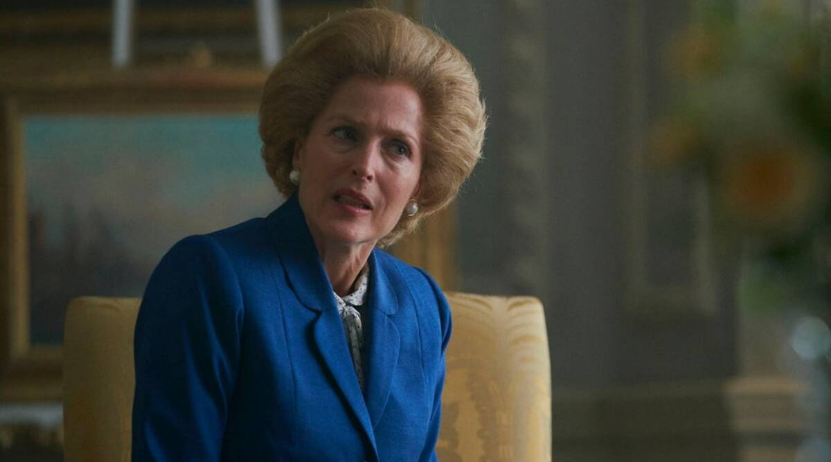 gillian anderson in the crown