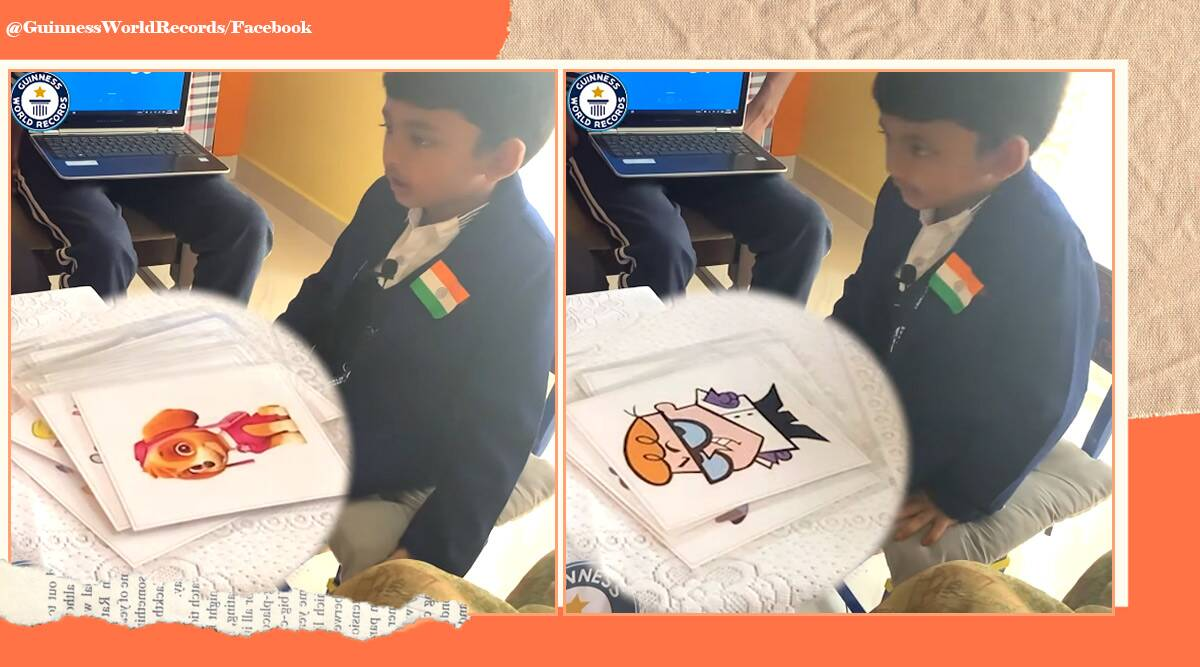 Guinness World Records, Most cartoon characters identified in one minute, Shrish Nirghav, GWR, GWR holder, trending, indian express, indian express news,