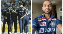Shikhar Dhawan shows a glimpse of Team India's new jersey