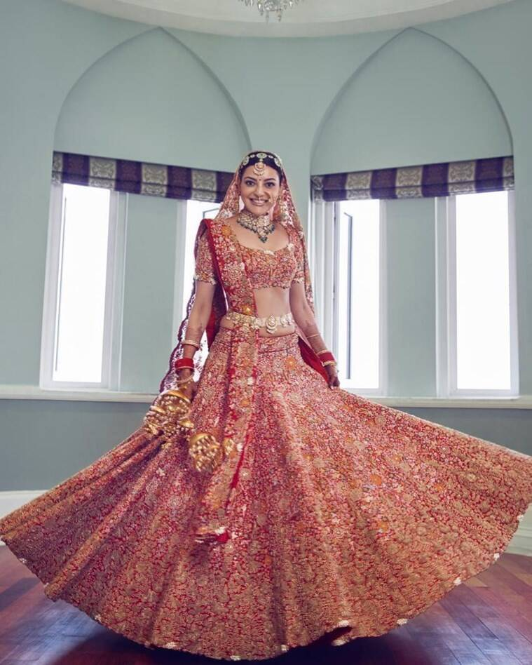 kajal gautam wedding dress