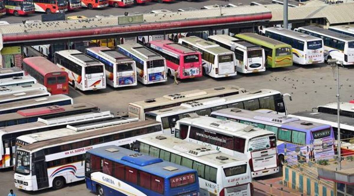 Karnataka bandh, Karnataka bandh buses, Majestic bus stand