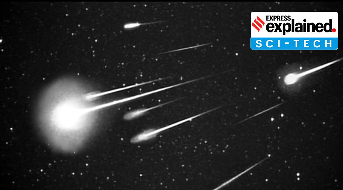 Leonid meteor shower, Leonid meteor shower 2020, Leonid meteor shower 2020 India, what is Leonid meteor shower, what is a meteor shower, currently active meteor showers, express explained, indian express