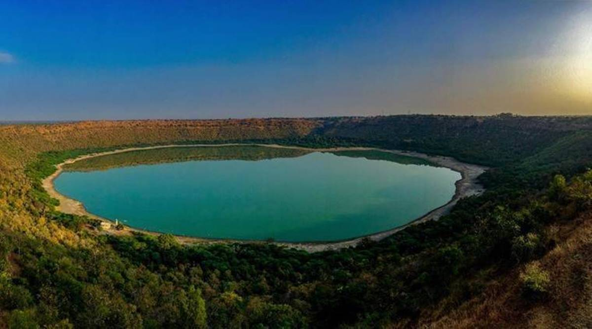 Lonar lake, meteor lake, Ramsar site, Nagpur news, Maharashtra news, Indian epxress news