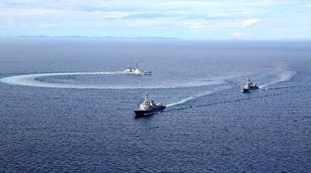 Malabar exercise, Malabar exercise 2020, Malabar exercise second phase, Malabar exercise dates, Malabar Navy Exercise Australia, Malabar Navy Exercise US, Malabar Navy Exercise Japan, what is Malabar Navy Exercise, indian express