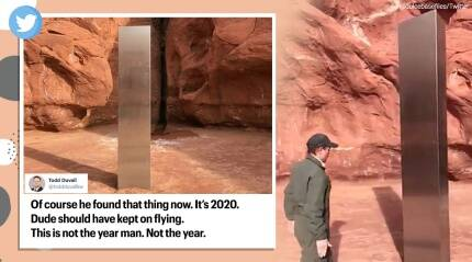 An unexplained metal monolith in the US sparks comparisons with '2001: A Space Odyssey'