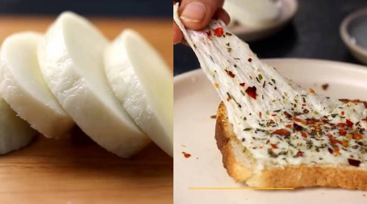 Make Mozzarella Cheese At Home With Just Two Simple Ingredients Watch Recipe Lifestyle News The Indian Express