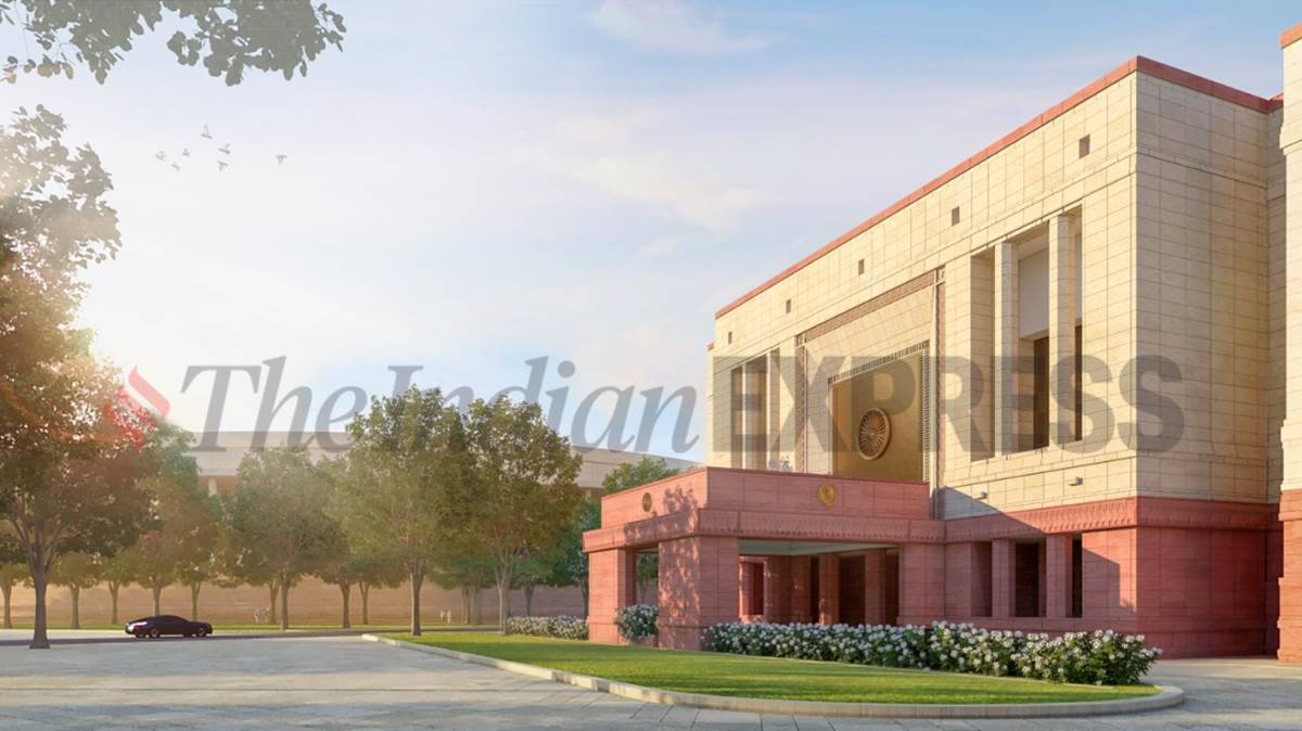 new parliament complex, central vista redevelopment, new parliament foundation stone laying, new parliament building bhumi pujan, total costs, indian express
