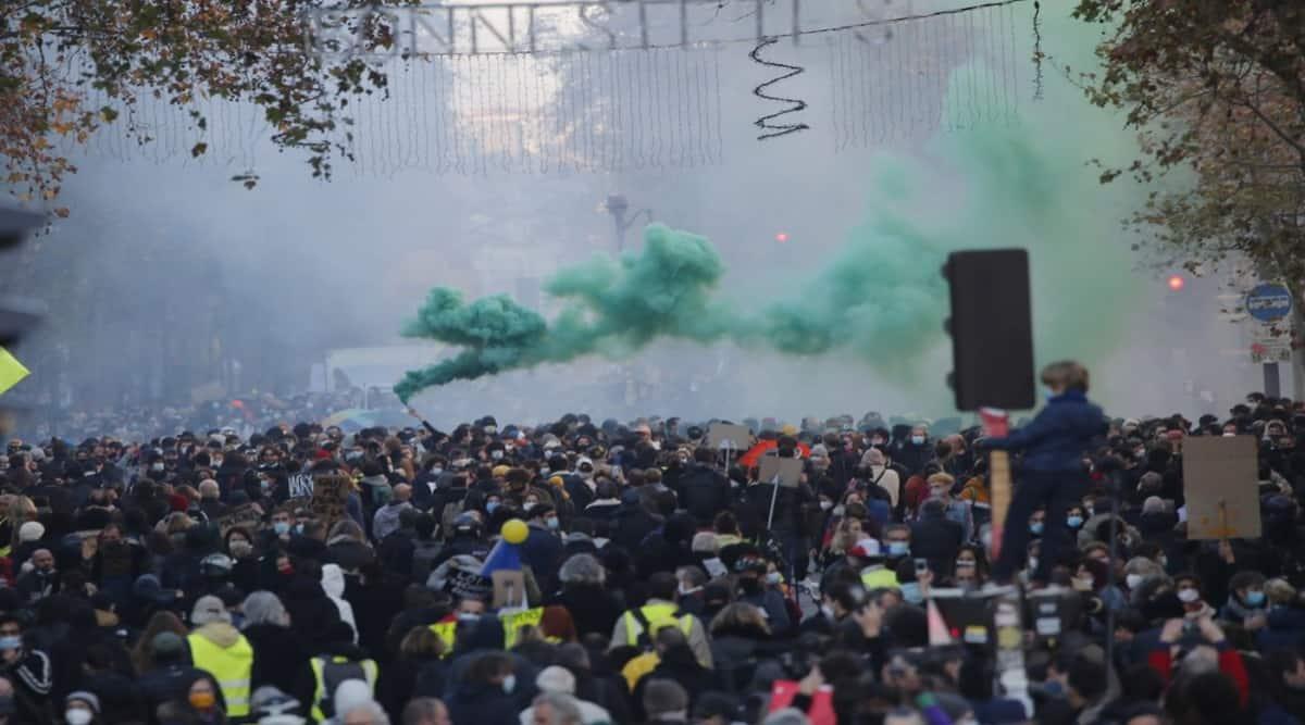 Paris protest police brutality