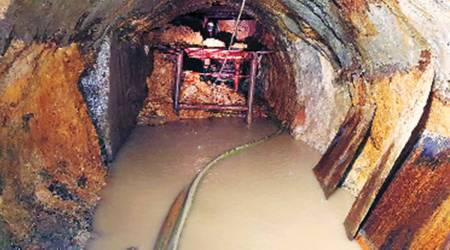 BMC water project stalled, TBM stuck in tunnel, Brihanmumbai Municipal Corporation, Mumbai news, Maharashtra news, Indian express news