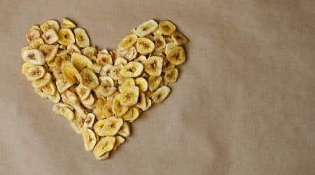 banana chips, health benefits of banana chips, banana fruit, how healthy are banana chips, healthy snacking, indian express news