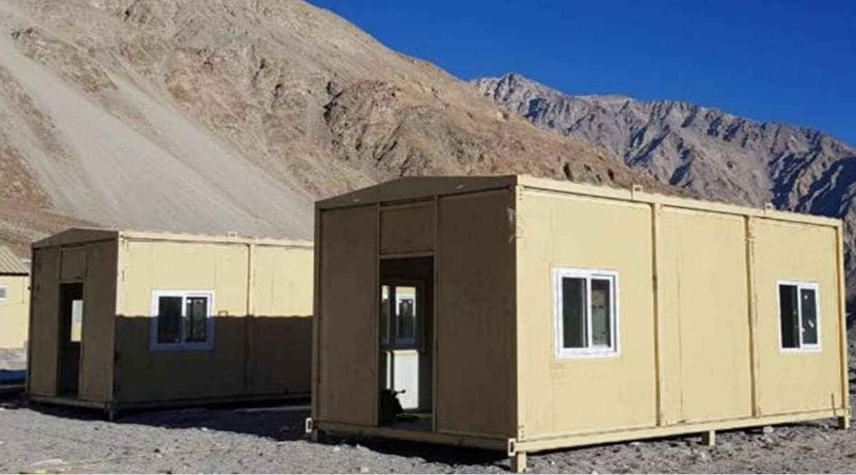 Indian Army sets up habitat facilities for troops deployed in eastern Ladakh amid China row - The Indian Express